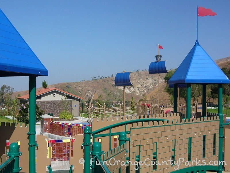 box canyon park yorba linda - castle themed play equipment