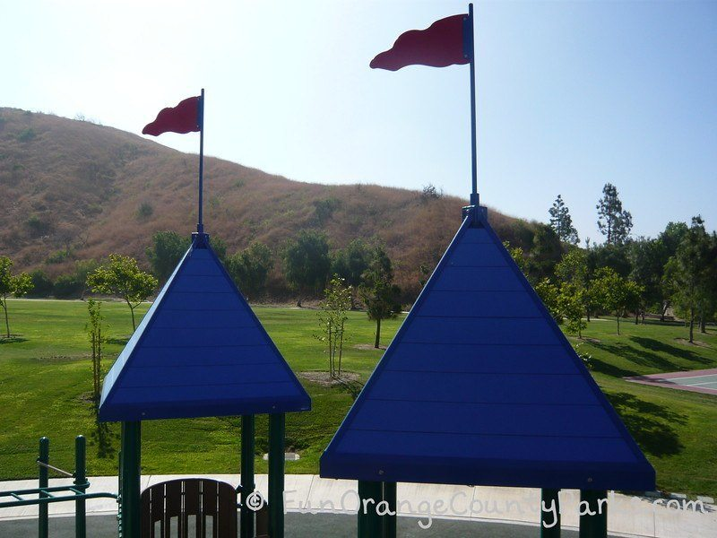 playground flying castle flags