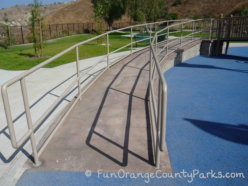 box canyon park yorba linda - concrete ramp to playground