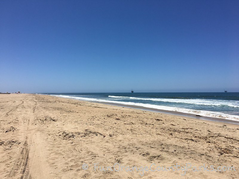Bolsa Chica State Beach view of sand and waves
