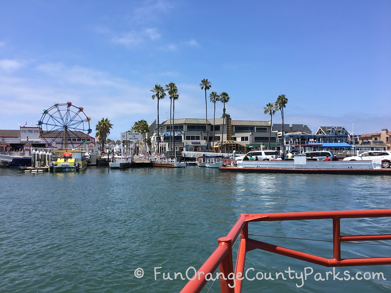 view of balboa fun zone from balboa ferry