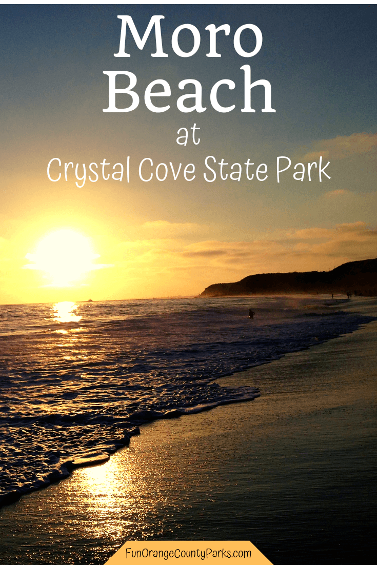 moro beach crystal cove state park - pin of sunset