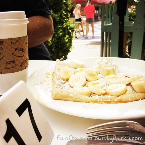 breakfast plate with view of balboa bike path