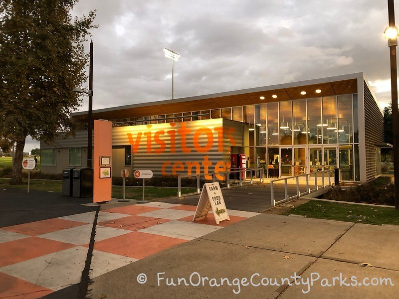 oc great park visitor center at night