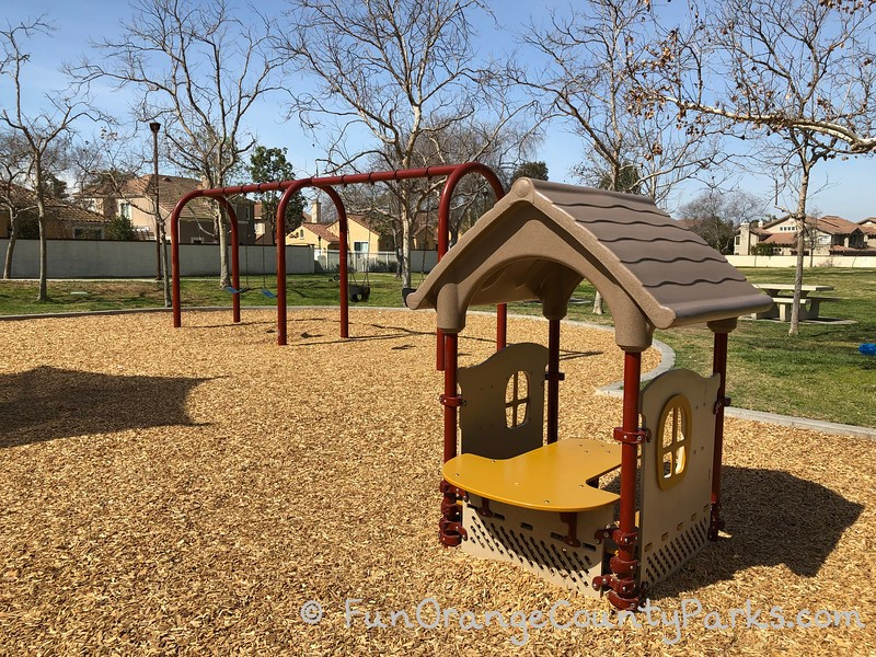 swingset and clubhouse