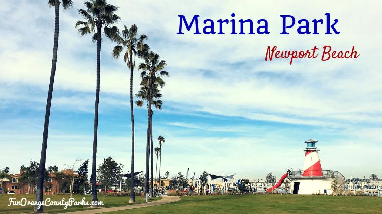 Marina Park Newport Beach view of lighthouse slide