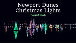 Newport Dunes Christmas Lights in Newport Beach