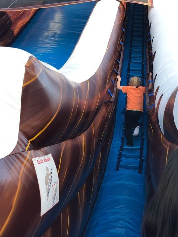 winterfest oc inflatable slide