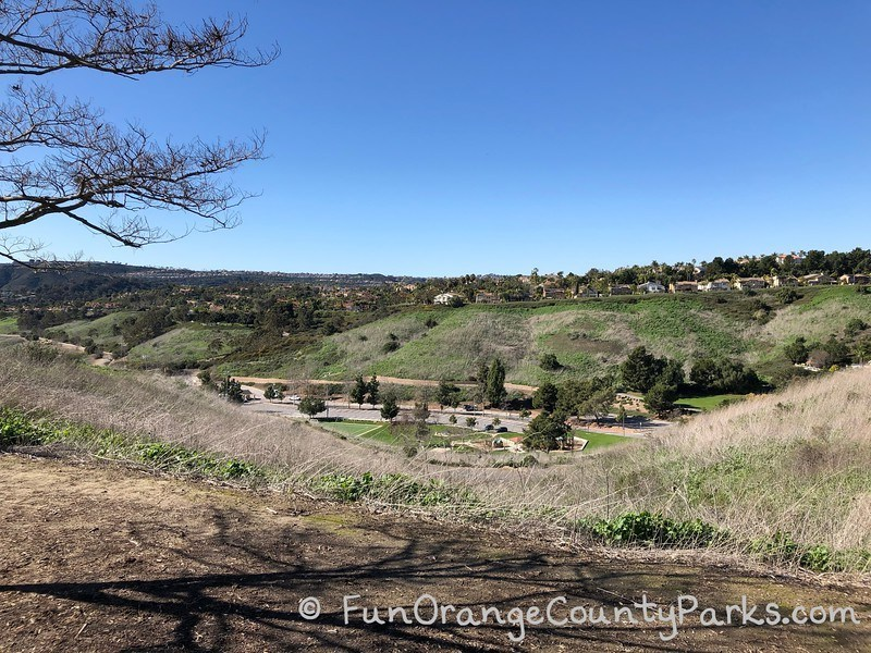 view of chapparosa park from above it at reef node park in laguna niguel