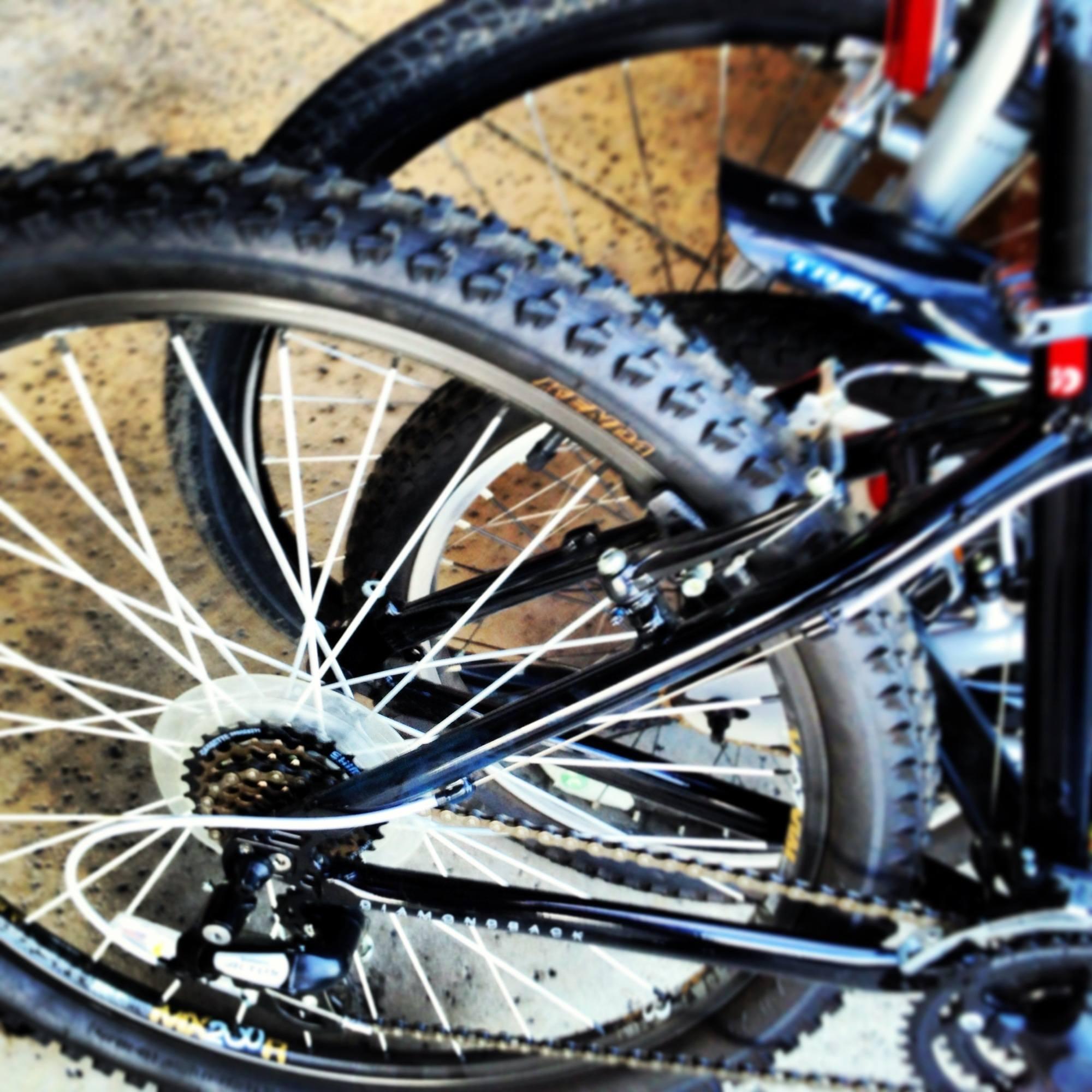 flat biking - bike tires