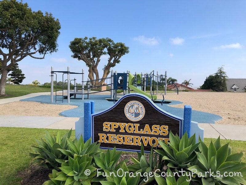 spyglass reservoir park newport beach - playground
