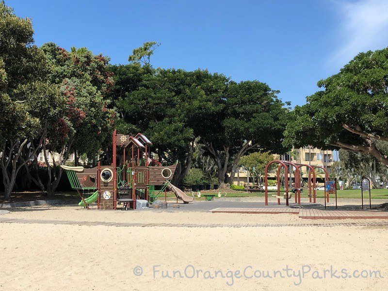 seabridge park huntington harbour - playground from beach