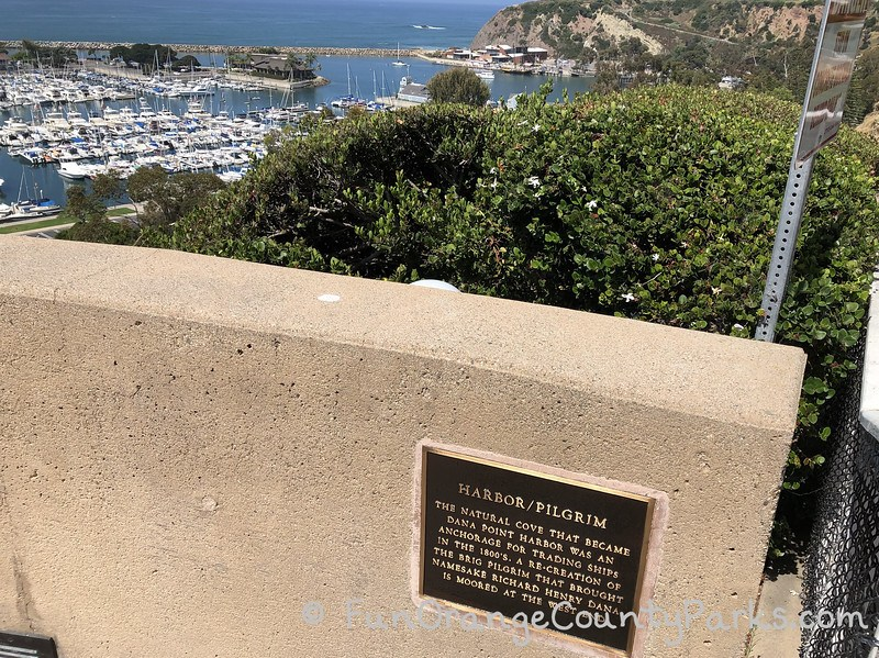dana point harbor view from trail