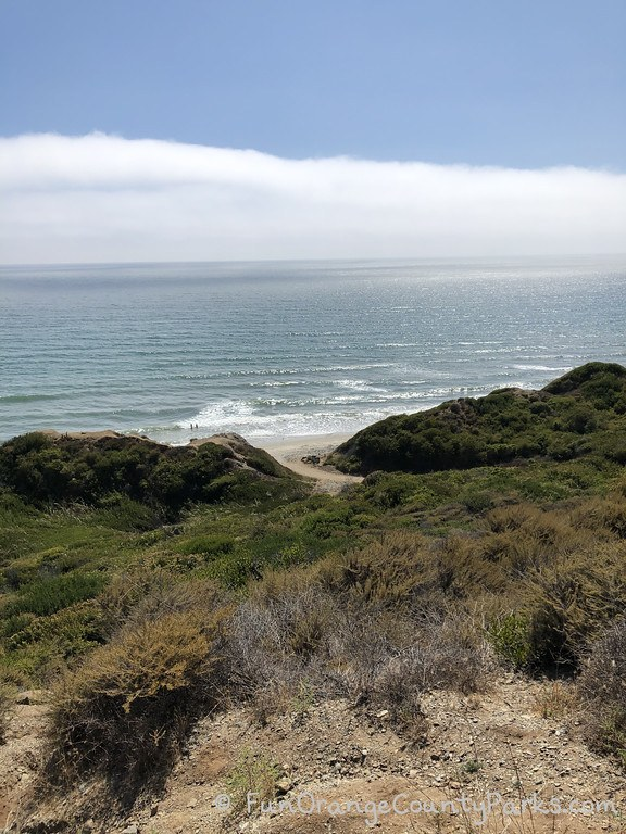 View of ocean from bluff at San Onofre Beach Trail