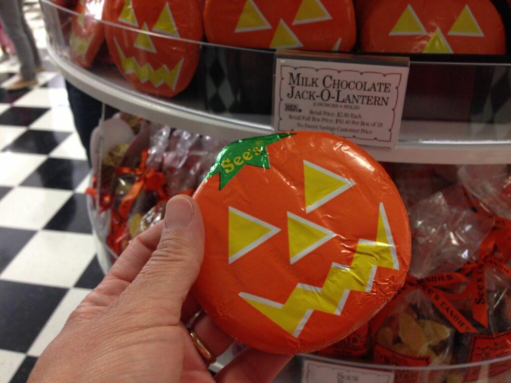 See's Candy jack-o-lantern chocolates