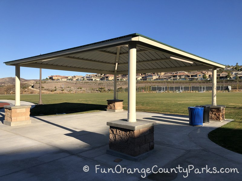 picnic shelter with no picnic tables underneath